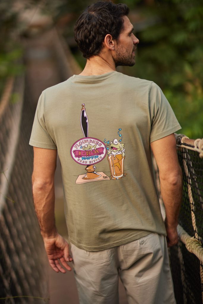 Man in printed graphic t-shirt