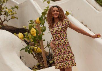 Women wearing an eco-friendly dress