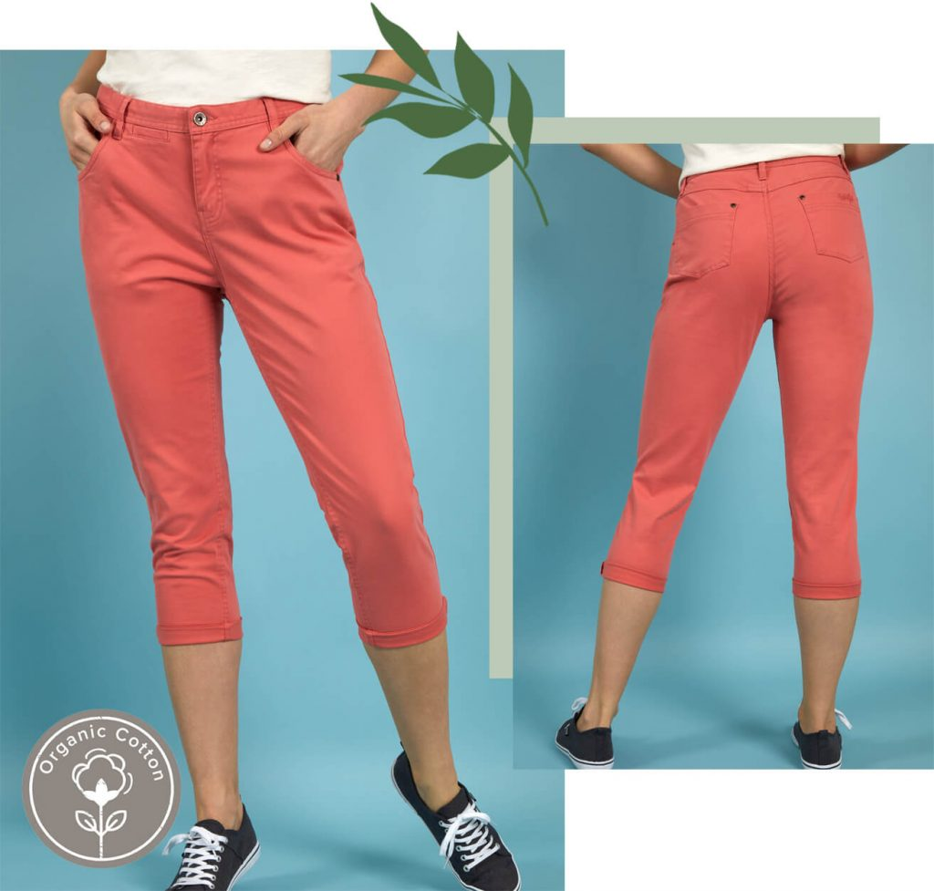 Pink Cropped Trousers