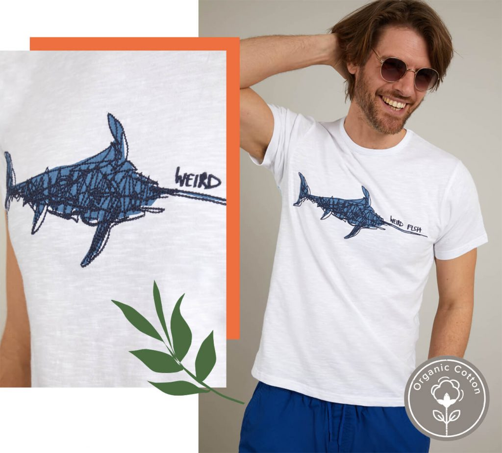 Man in graphic t-shirt