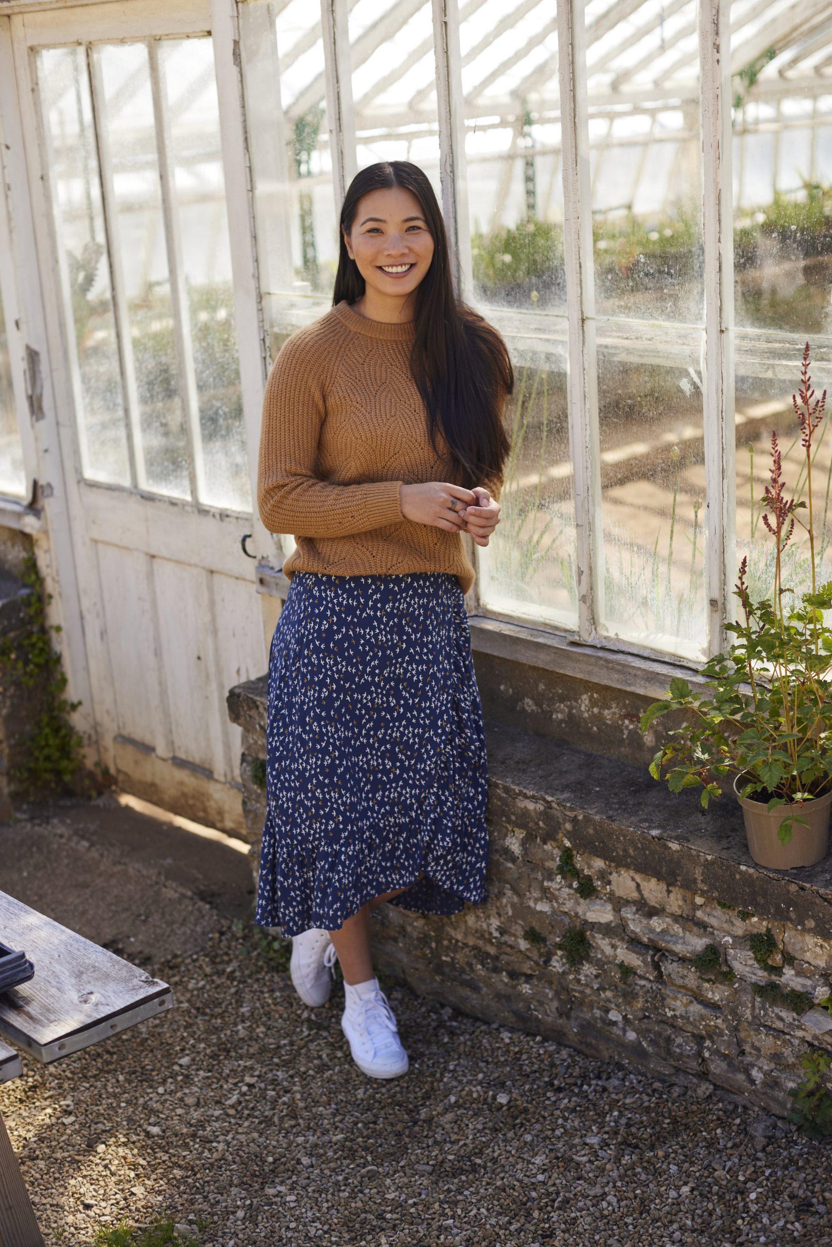 Juniper Knit Jumper £50 & Alba Eco Viscose Wrap Skirt £40